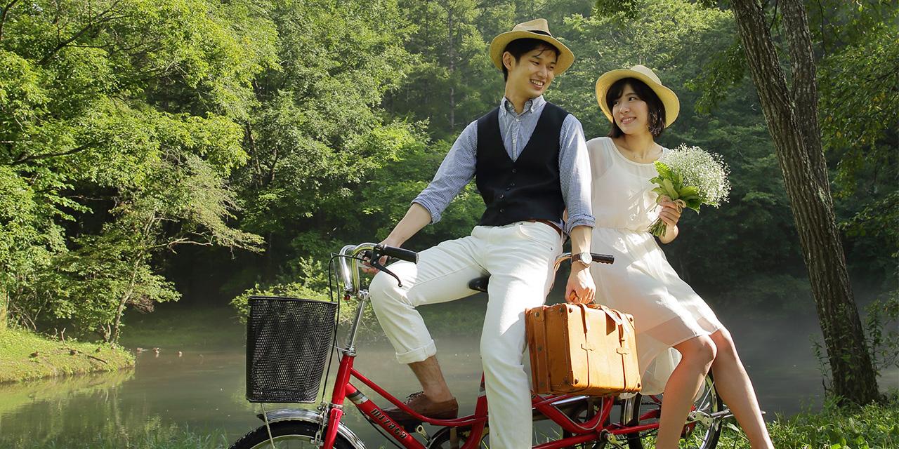 写真 二人のお気に入りを探しに! タンデム自転車で巡る、軽井沢の魅力のスポット